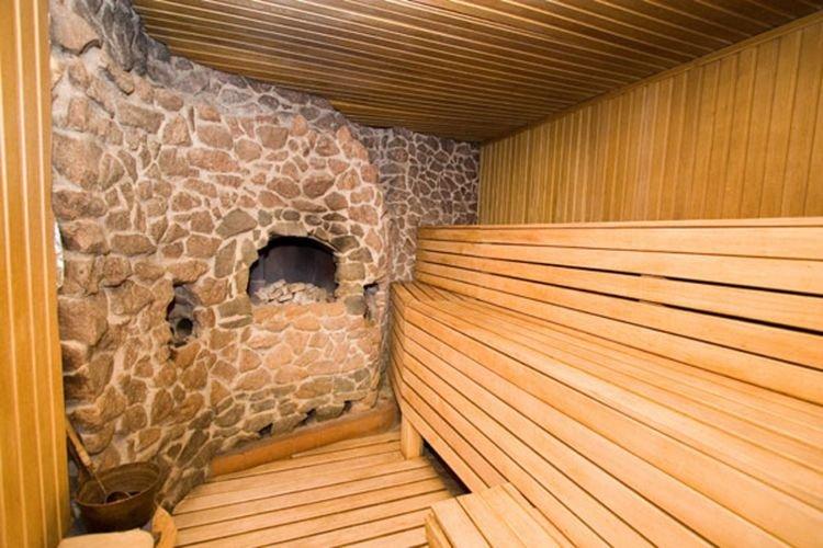 Как построить каменную баню