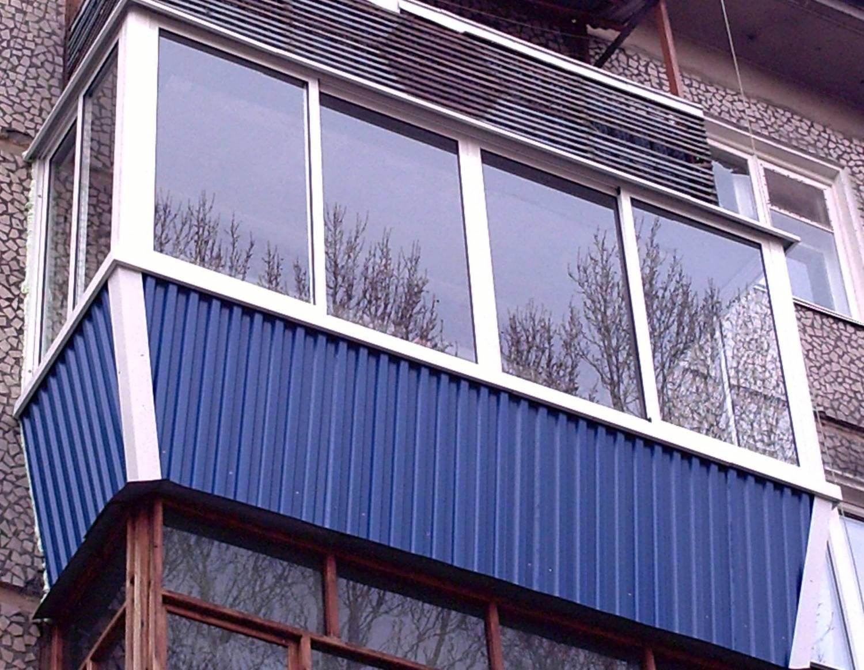 Варианты наружной облицовки балконного помещения.
