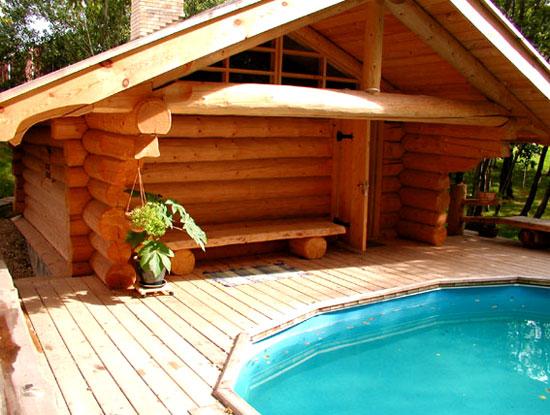 Строим баню с бассейном