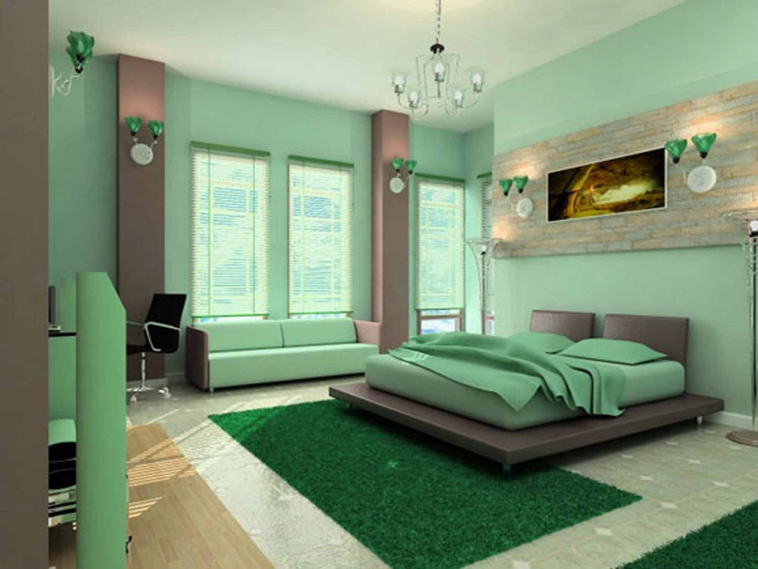 Green bedroom decorating ideas