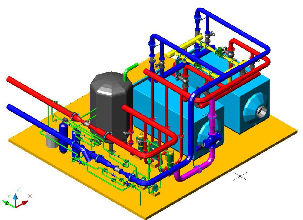 блочные котельные с высокотемпературными котлами на газовом топливе